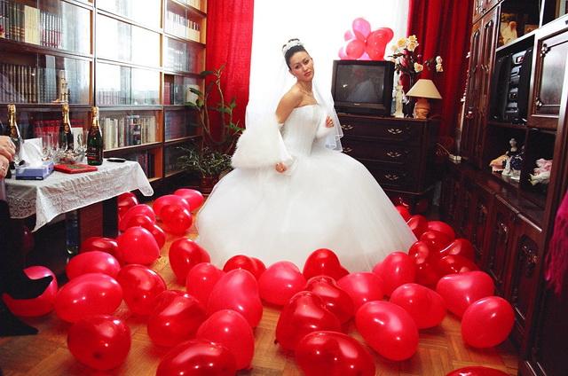 Оформление шарами свадьбы фото
